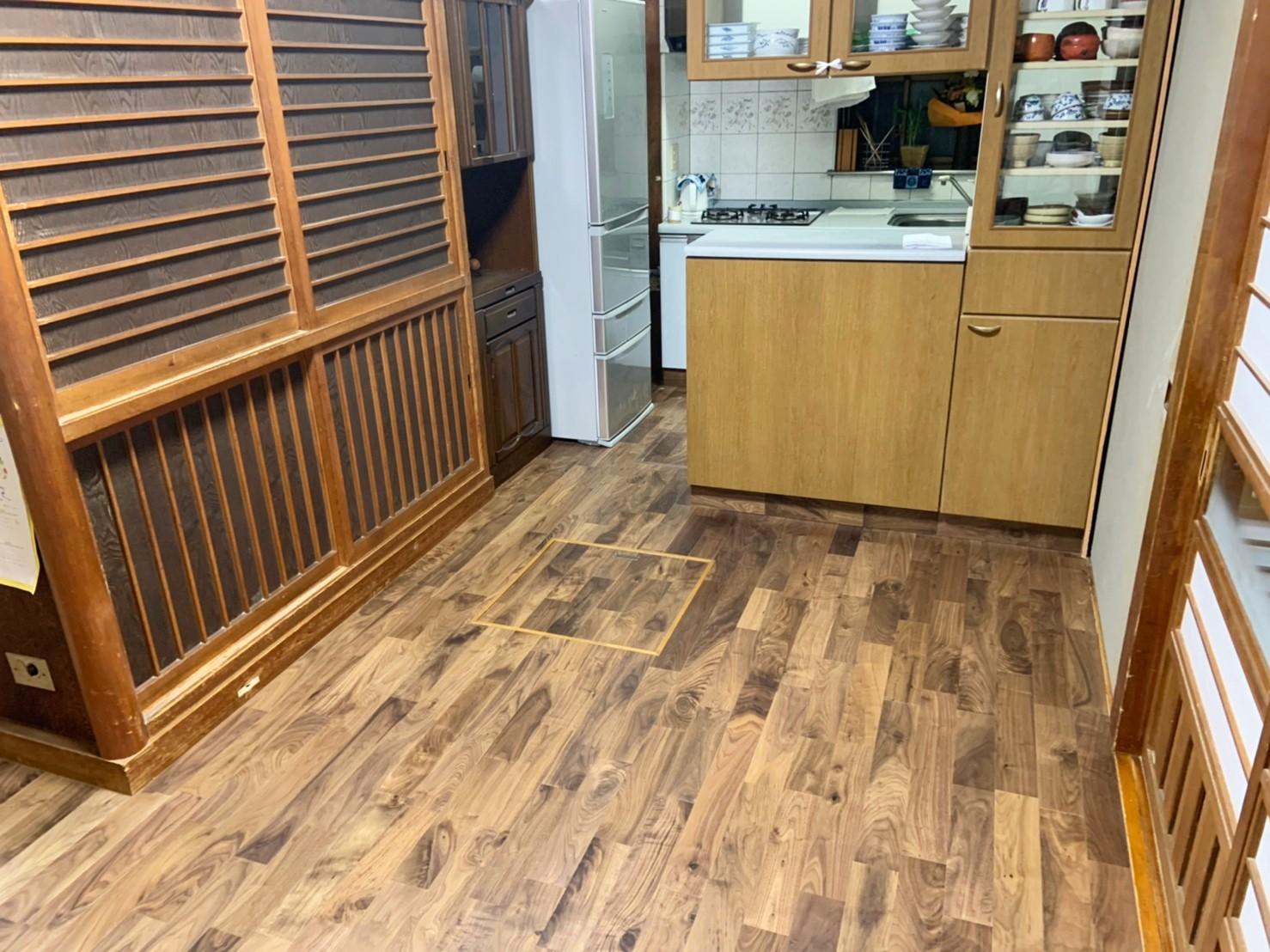 千葉県柏市N様邸 無垢材で床の張替リフォーム