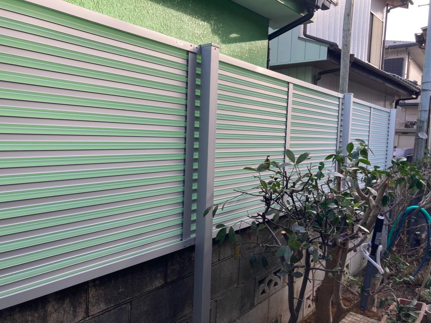 千葉県松戸市N様邸 フェンスの外構リフォーム