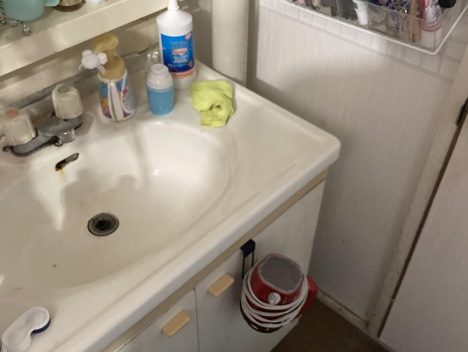 千葉県船橋市S様邸 洗面化粧台の交換リフォーム_ビフォー