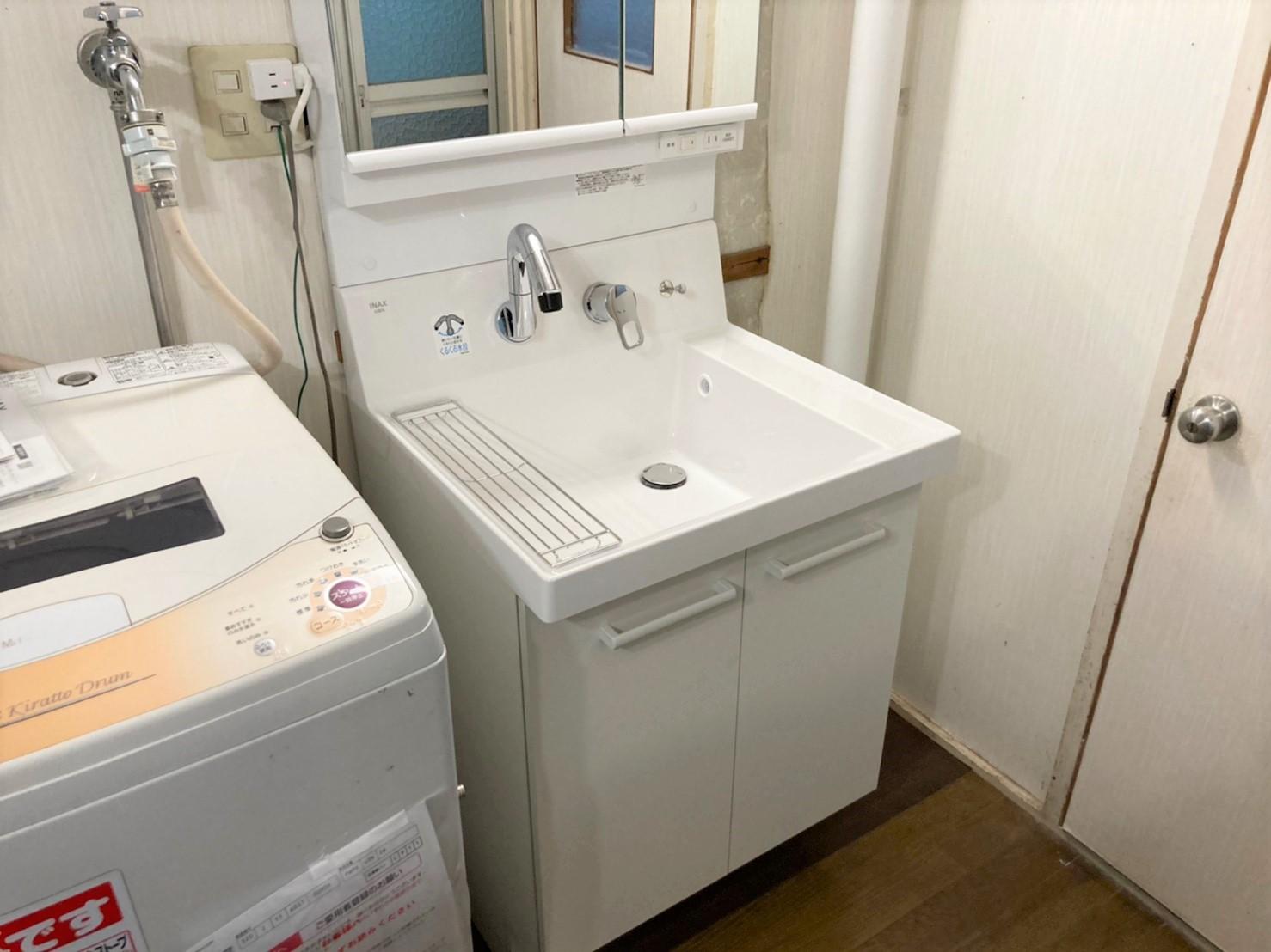 千葉県船橋市S様邸 洗面化粧台の交換リフォーム_アフター