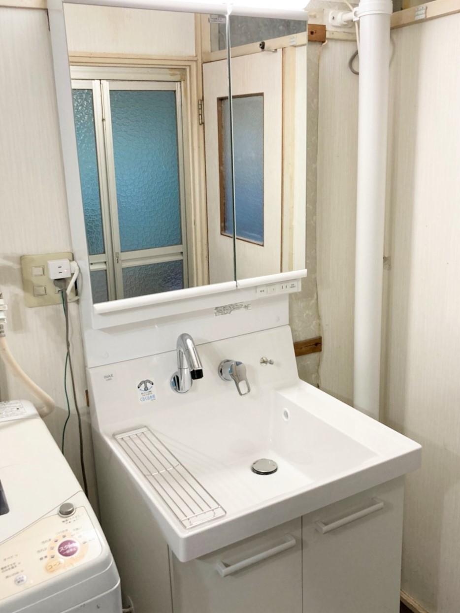 千葉県船橋市S様邸 洗面化粧台の交換リフォーム
