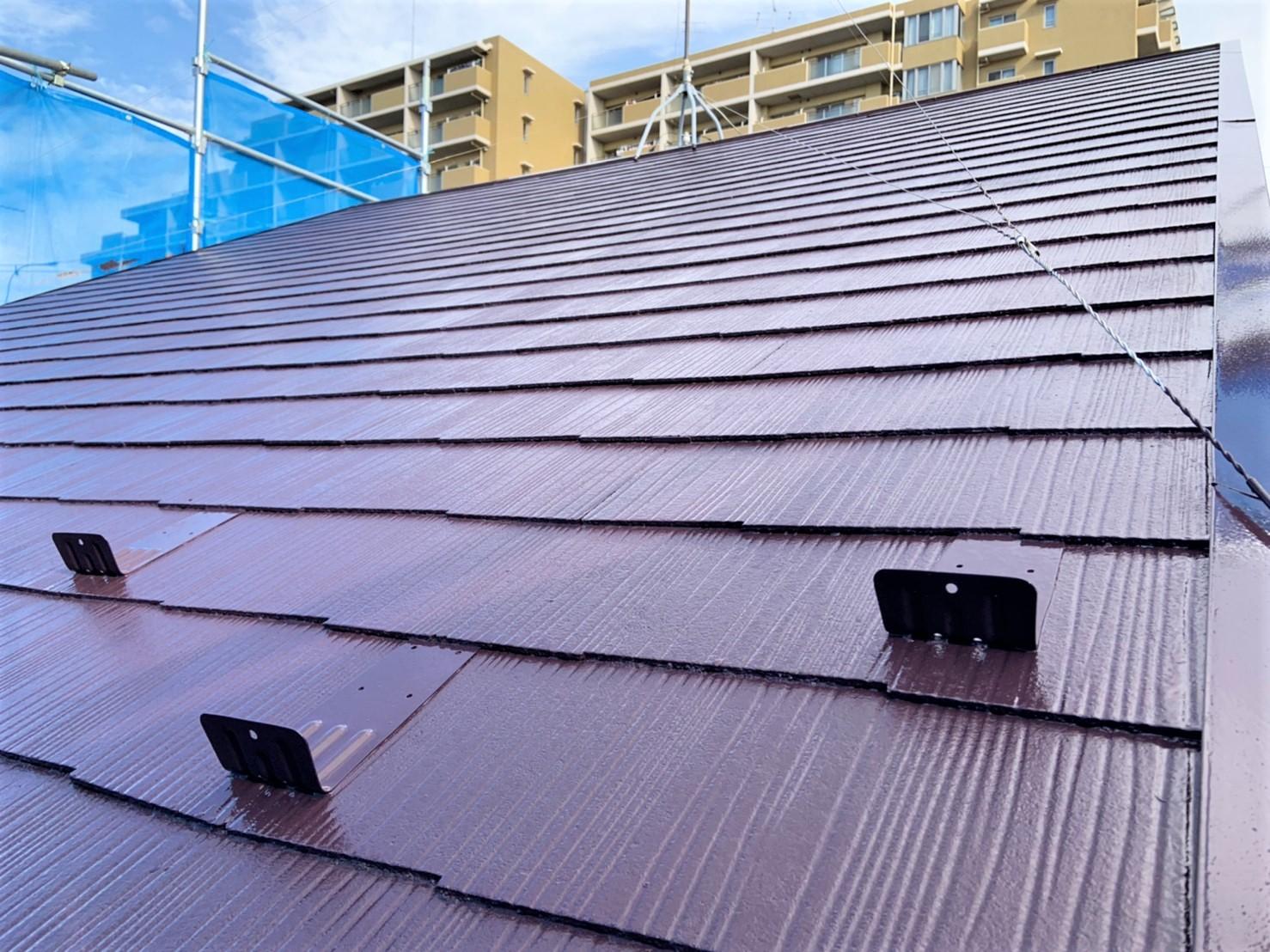 屋根塗装リフォームの仕上がり