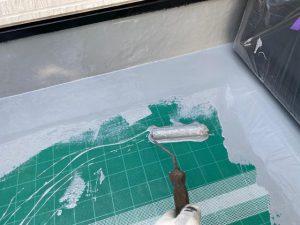 バルコニーの防水塗装