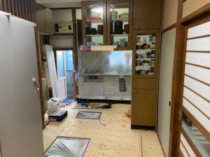 千葉県柏市N様邸 無垢材で床の張替リフォーム_施工中1