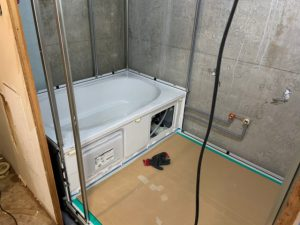 浴室リフォーム中の様子
